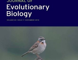 We hit the cover of Journal of Evolutionary Biology!